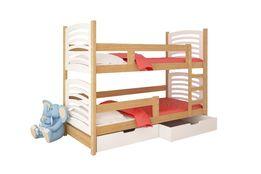 Łóżko piętrowe OLI dla 2 osób ! Materace + szuflady w cenie !