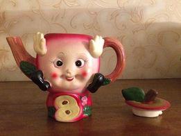 Заварочный чайник из натуральной глины