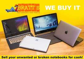 We buy second-hand notebook and Computers