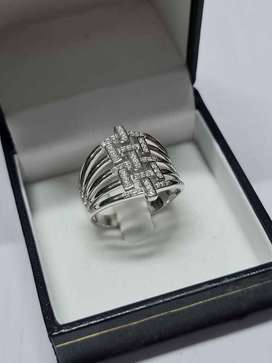 Cross Decal NEW Sterling Silver Ring Size 9