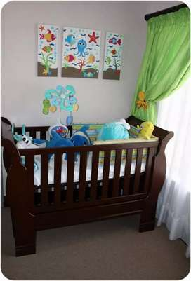 Baby Cot, solid wood