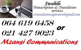 Swahili Transcription and Translation Services Western Cape