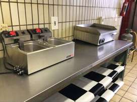 Anvil double chip fryer and Anvil 600 mm grill