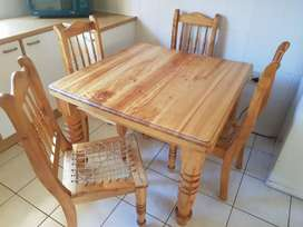 Popular wood table and chairs