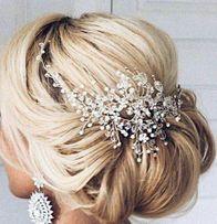 Ozdoba ślubna BELLA stroik do włosów z kryształków opaska diadem kwiat
