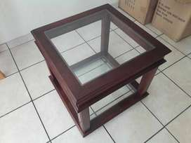 5 Tier Shelf and Wood and Glass Coffee Table