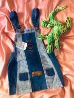 Детский джинсовый сарафан рр135