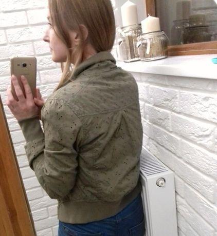 Kurtka bomberka ażurowa krótka khaki Przemyśl - image 5