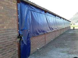 QUALITY (550GSM) PVC CHICKEN HOUSE CURTAINS WITH POCKETS AND EYELETS