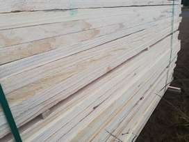 Pine and hardwood decking
