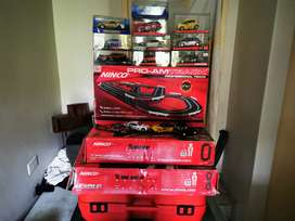 Ninco slot car tracks and cars