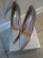 Piekne srebrne buty 37