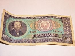 Banknot Rumunia 100 UNA SUTA LEI z 1966 roku