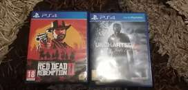 Red Dead Redemption 2 and Uncharted 4