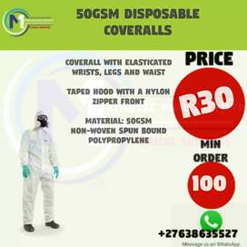 50gsm DISPOSABLE COVERALLS