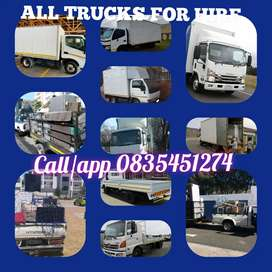 TRANSPORT TRUCKS AND BAKKIES FOR HIRE