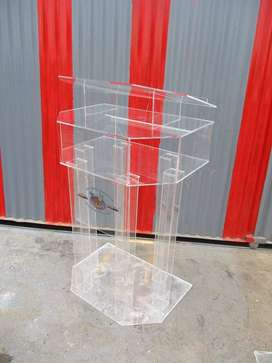 Clear Tubular Podium and Pulpits