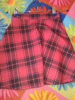 Продам юбку в клетку для девочки 10-12 лет