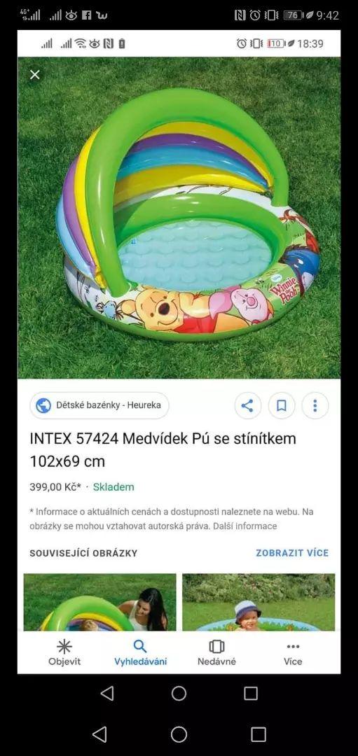 Dětský bazén Medvídek pu 0