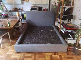 Double Bed Coricraft Base and Headboard
