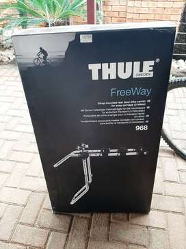 2 x Delta cross bicycles and thule freeway 3 bike holder. 3 years old.
