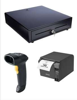 Combo at low Price Till Printer, Scanner and Cash Drawe