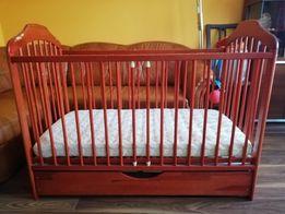 Łóżeczko dziecięce Bocian z materacem