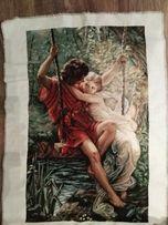 """вышивка крестом , ручная работа. Картина """" Весна влюбленных"""" 36*58"""