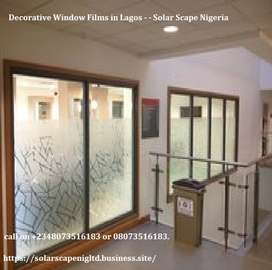 Safety Security Window Films in Lagos