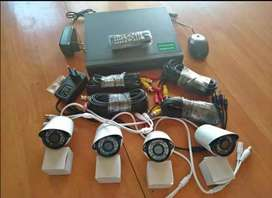 CCTV surveillance kits it consists of 4 hd cameras and night vision