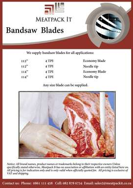 Bandsaw blade for sale