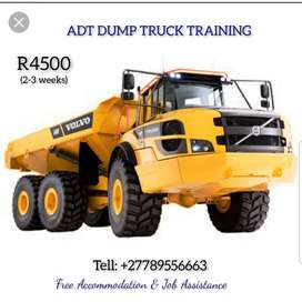 ADT dump truck Training in Mafikeng