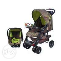 Image of Chelino travel system -including base for car seat