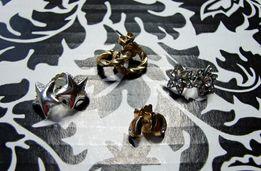 Kolczyki wkrętki sztyft sztyfty Avon Orsay złote srebrne gwiazdki łez