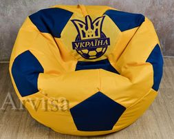 Бескаркасное кресло мешок мяч ХL 130 Барселона Динамо Украина Реал, оп