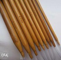 Спицы для вязания бамбуковые (длина 80см / набор 18 размеров)