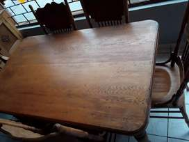6 seater oak dining room table