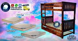 Double bunk bed with underbed for sale - Brand New