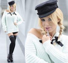 Miętowy sweter oversize h&m trend Doda Bizuu La Mania XS