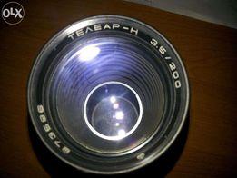 объектив ТЕЛЕАР Н 3.5-200, м42 в оригинальном кофре.