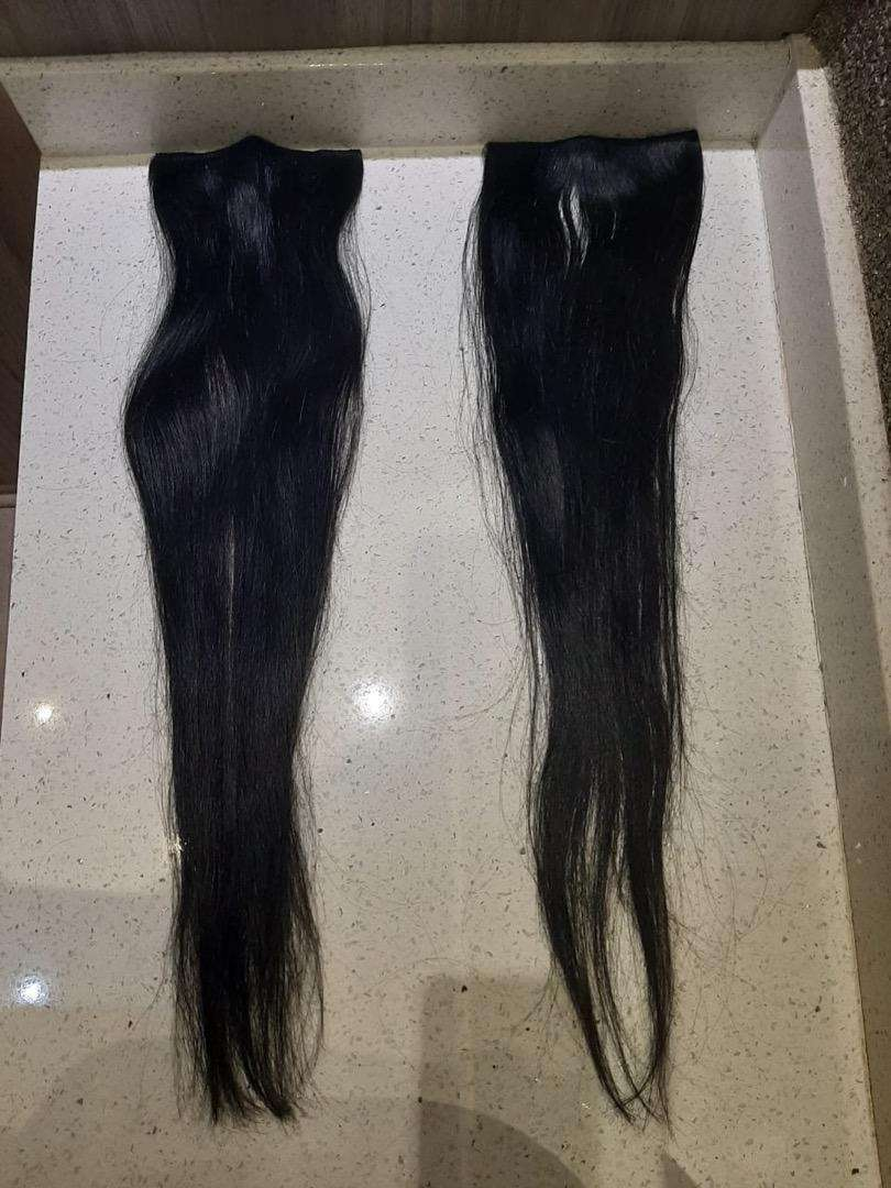 24inch Natural Straight Black Hair Extensions 0