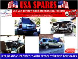 JEEP/ GRAND CHEROKEE/ 5.7/AUTO/PETROL/STRIPPING FOR SPARES/USA SPARES