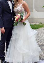 suknia ślubna piękna włoska rozmiar 38