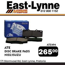 ATE Disc Brake Pads for ONLY R265!