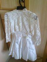 komunijna sukieneczka z tafty