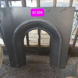 Steel fireplace edge