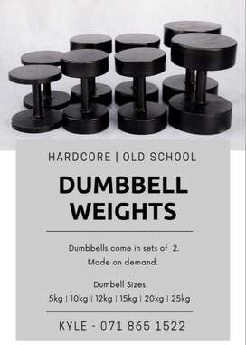 Brand New Hardcore Oldschool dumbbells