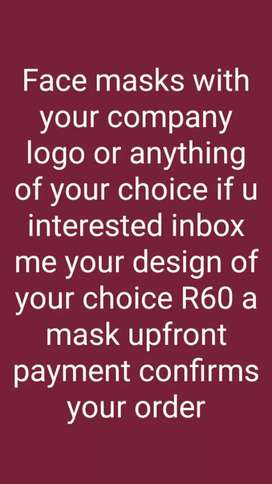 Face masks with your own design