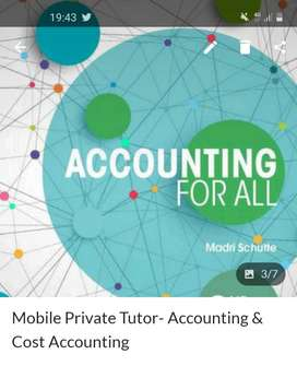 Mobile Accounting & Cost Accounting Private Tutor