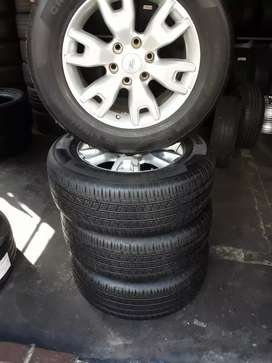 A set of rims and tyres ford size 18 for sale it's available now